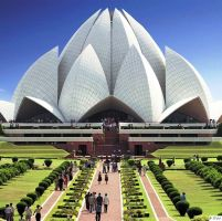 INDIA DAY 02 : DELHI – JAIPUR (MP/MS/MM) lotus_temple_park_bahai_temple_delhi